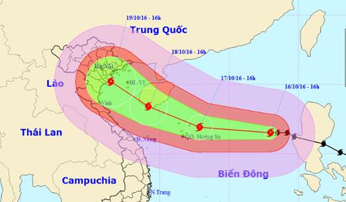 Bão Sarika sẽ đổ bộ vào Việt Nam