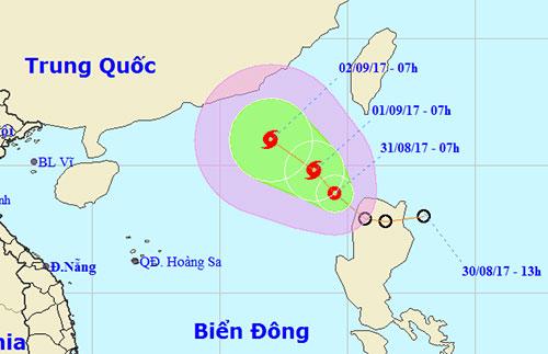Áp thấp nhiệt đới trên biển Đông, khả năng thành bão