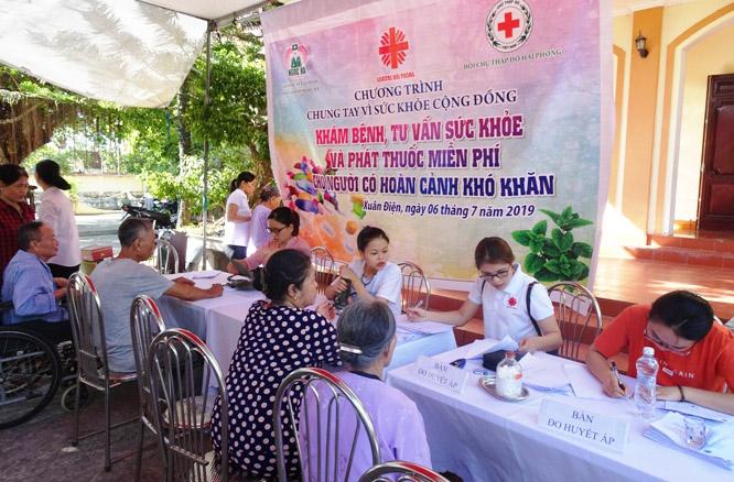 Caritas Hải Phòng: Khám bệnh và phát thuốc miễn phí cho người có hoàn cảnh khó khăn