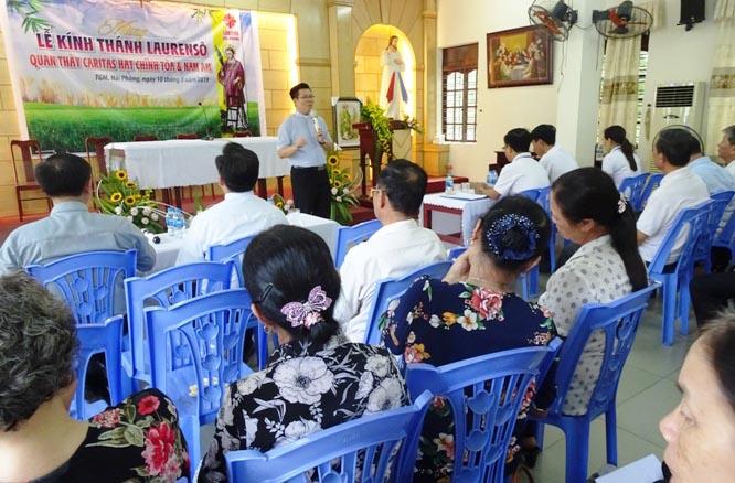 Caritas Hải Phòng: Caritas hạt Chính Tòa & Nam Am mừng lễ bổn mạng - Thánh Laurensô phó tế tử đạo