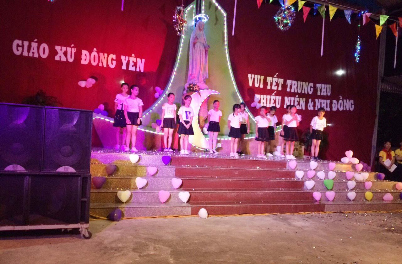 Caritas Thanh Hoá: Đêm Hội Trăng Rằm tại Giáo xứ Đông Yên - Giáo phận Thanh Hoá