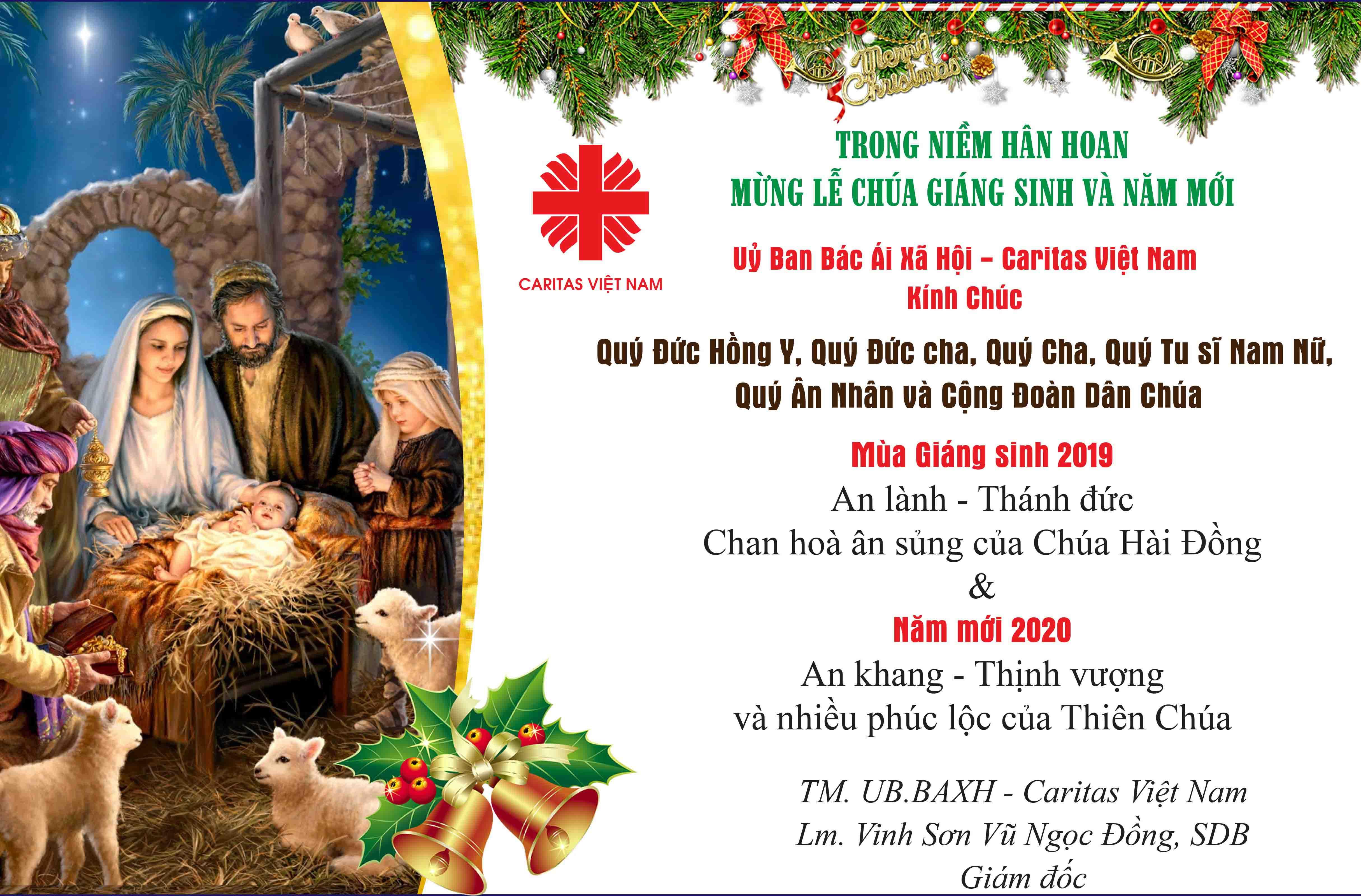 Caritas Việt Nam: Chúc Mừng Lễ Chúa Giáng Sinh và Năm Mới 2020
