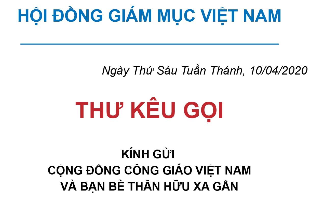 Thư kêu gọi ngày Thứ Sáu Tuần Thánh của Hội đồng Giám mục Việt Nam