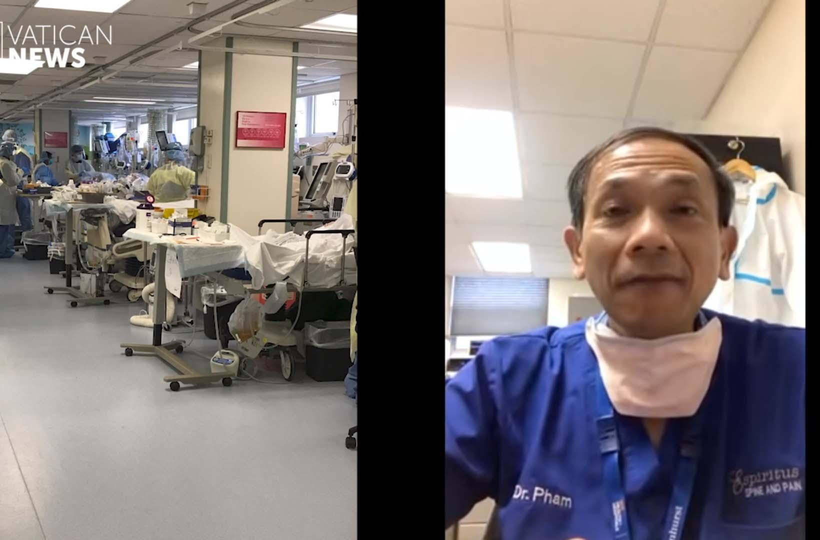 Phỏng vấn Lm. Hữu Tâm tại bệnh viện điều trị Covid-19 ở New York