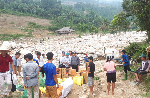 Caritas Giáo Tỉnh Miền Bắc: Cứu trợ đồng bào bị lũ quét và sạt lở đất tại Hà Giang