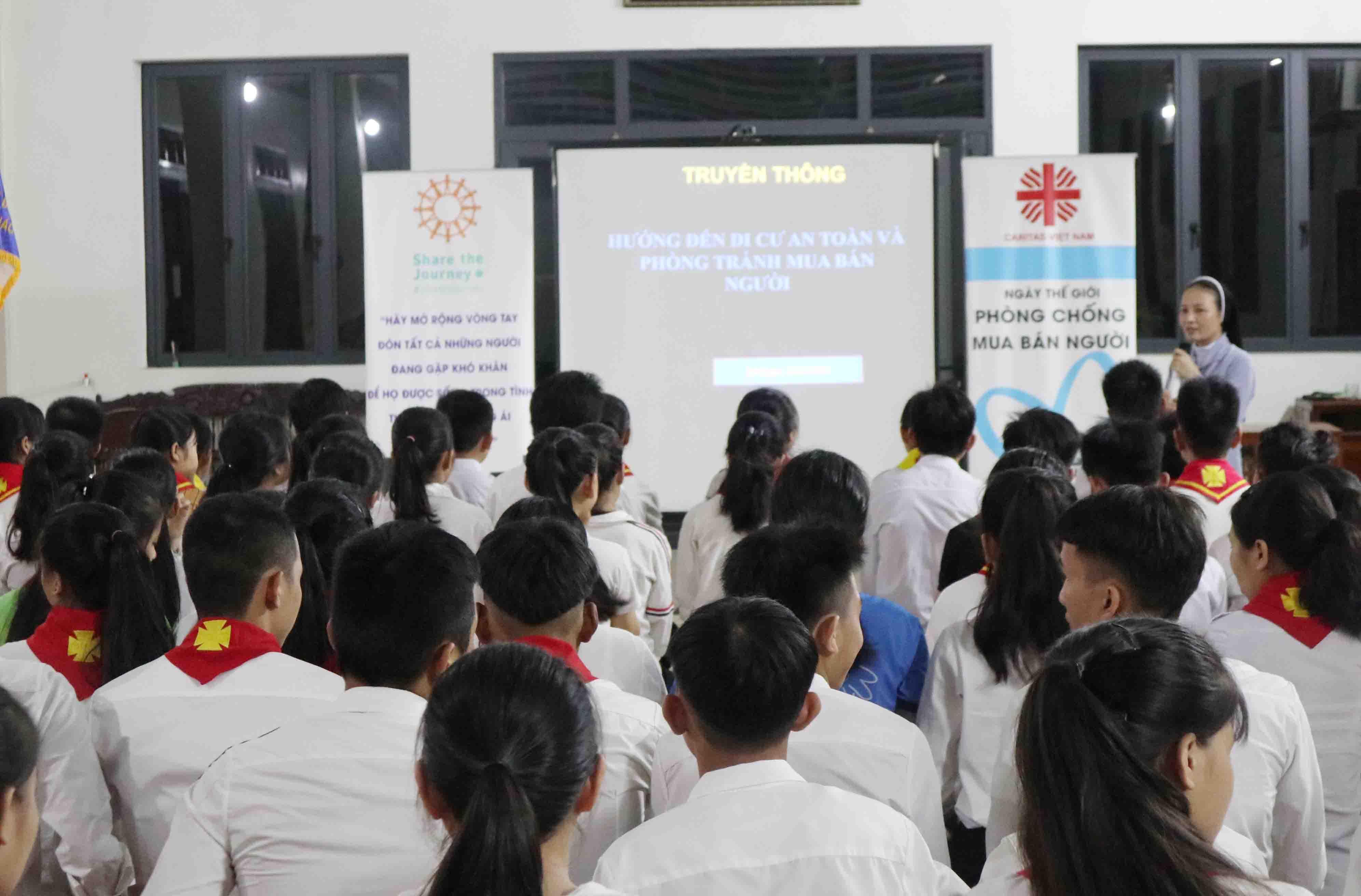 Caritas Vinh: Truyền thông phòng tránh buôn người