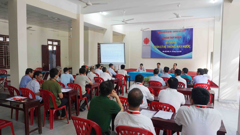 Caritas Việt Nam: Khoá tập huấn Kỹ năng quản lý hệ thống máy nước