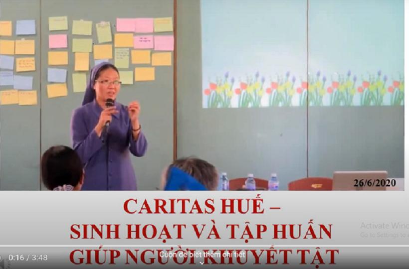 Caritas Huế: Sinh Hoạt Và Tập Huấn Giúp Người Khuyết Tật