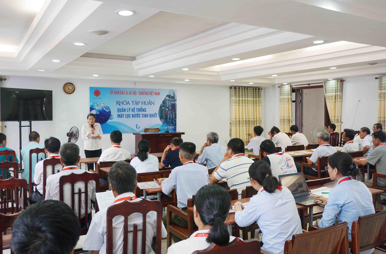 Caritas Việt Nam: Khóa Tập Huấn Kỹ Năng Quản Lý Máy Nước Tinh Khiết