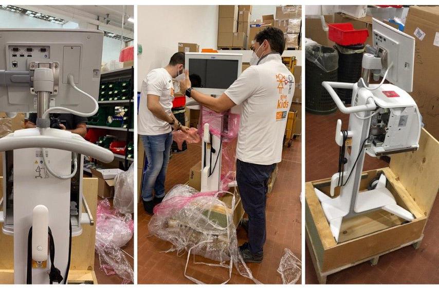 ĐTC tặng máy trợ thở, máy siêu âm cho các bệnh viện ở Brazil