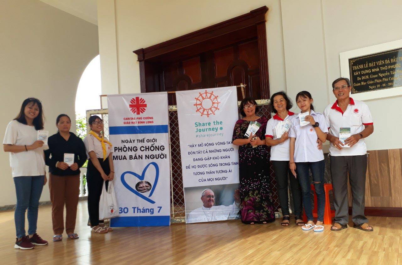 Caritas Hạt Bình Long: Nhật Ký Truyền Thông Nhân Ngày Thế Giới Phòng Chống Buôn Người (30/7)