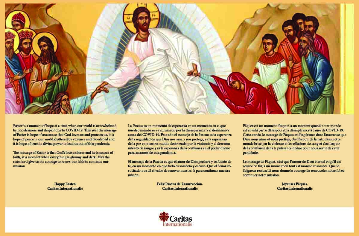 Sứ Điệp Phục Sinh Của Caritas Quốc Tế