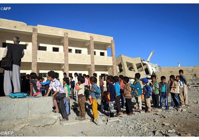 Gần 3,5 triệu trẻ em Yemen không được học hành