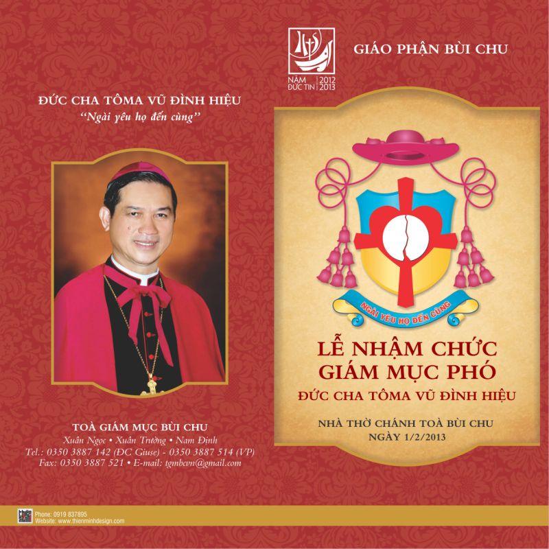 Lễ nhậm chức Giám mục phó giáo phận Bùi Chu: ngày 1 tháng 2 năm 2013