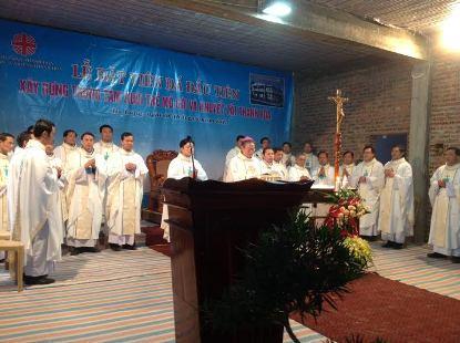 Lễ Đặt Viên Đá Đầu Tiên Xây Dựng Nhà Nuôi Trẻ Mồ Côi Và Khuyết Tật Giáo Phận Thanh Hóa