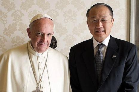 Đức Thánh cha và chủ tịch Ngân hàng thế giới thảo luận cách giảm nghèo đói