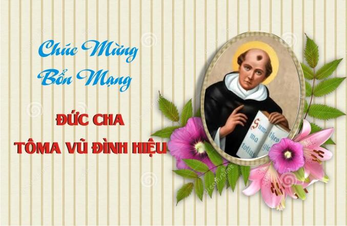 Chúc mừng Bổn mạng Đức Cha Tôma Vũ Đình Hiệu