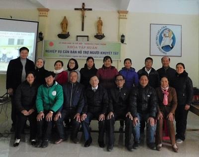 Caritas Phát Diệm: Tập huấn 'Nghiệp vụ căn bản hỗ trợ người khuyết tật' dành cho các hội viên chăm sóc người khuyết tật