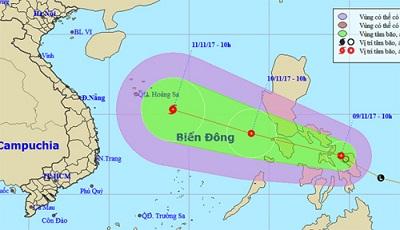 Áp thấp nhiệt đới có thể mạnh thành bão