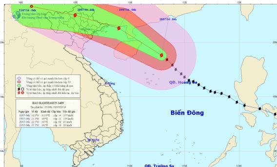Tin bão gần bờ (Cơn bão số 2)