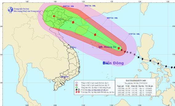 Tin Bão trên biển Đông (Cơn bão số 2)