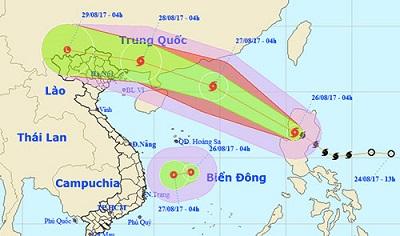 Áp thấp nhiệt đới mới trên biển Đông, hướng Bình Định - Khánh Hoà