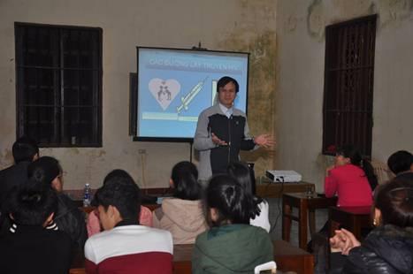 Caritas Hải Phòng truyền thông HIV tại giáo xứ An Quý – Hải Phòng