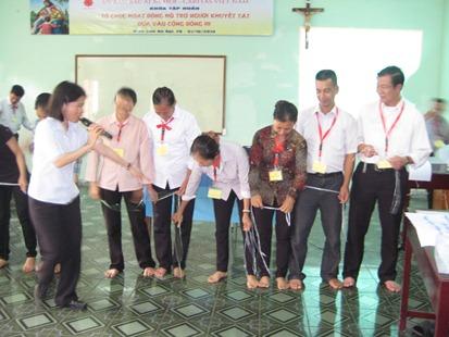 """Khóa tập huấn """"Tổ chức hoạt động hỗ trợ người khuyết tật dựa vào cộng đồng III"""" - Giáo tỉnh Hà Nội"""