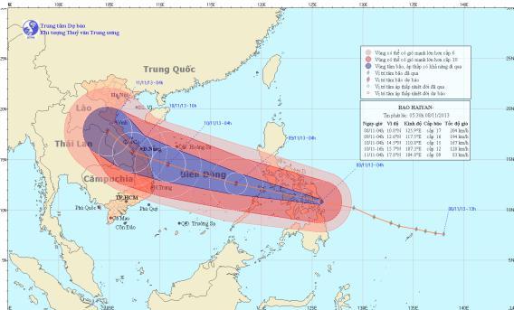 Tin bão gần biển Đông (Cơn bão HaiYan)