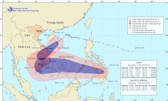 Tin bão trên Biển Đông (cơn bão số 12)