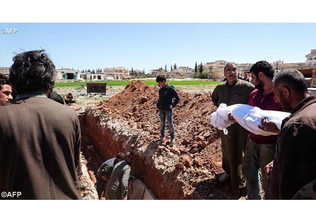 Các trẻ em Siria bị chết vì khí độc