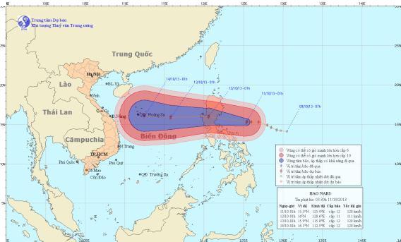 Tin bão gần biển Đông (Bão Nari)