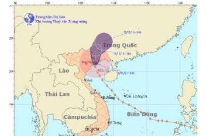 Tin bão trên đất liền (Cơn bão số 14)