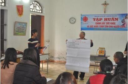 Caritas Bùi Chu: Tập Huấn Chăm Sóc Sức Khỏe và Sức Khỏe Sinh Sản Cho Người Nhiễm HIV