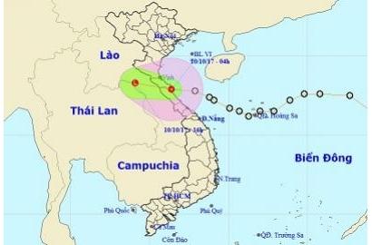 Áp thấp đã vào Hà Tĩnh và Quảng Bình, gió giật cấp 8