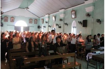 Caritas Giáo phận Hải Phòng tĩnh tâm mùa Chay Thánh 2015