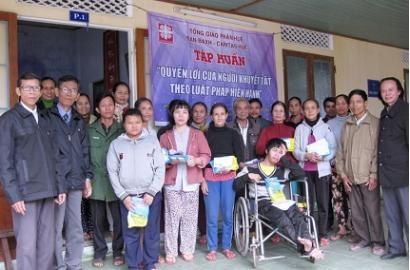 Caritas Huế: Những điều trăn trở sau đợt Tập huấn - Sinh hoạt với người khuyết tật