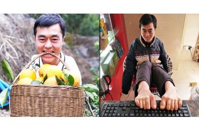Chàng trai khuyết tật gây dựng sự nghiệp từ đôi chân: Nơi nào có ý chí, nơi đó có con đường