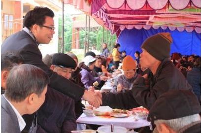 Caritas Hải Phòng mừng xuân với bệnh nhân phong Chí Linh - Hải Dương