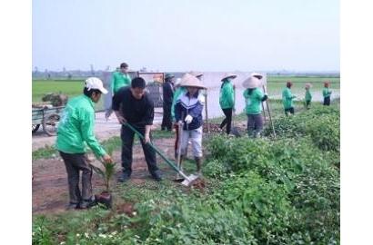 Caritas Hải Phòng: Ra quân bảo vệ môi trường tại Giáo xứ Tiên Đôi lần II