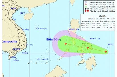 Bão Damrey vừa tan, áp thấp nhiệt đới lại sắp vào Biển Đông