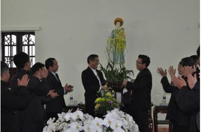 Caritas Giáo Tỉnh miền Bắc thăm và chúc tết Quý Đức Cha phụ trách UBBAXH - Caritas Việt Nam