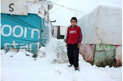 Người tị nạn Syria vật lộn với cơn bão mùa đông tại Libăng