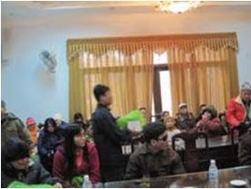 Caritas Bắc Ninh tặng quà cho người khiếm thị nhân dịp tết cổ truyền