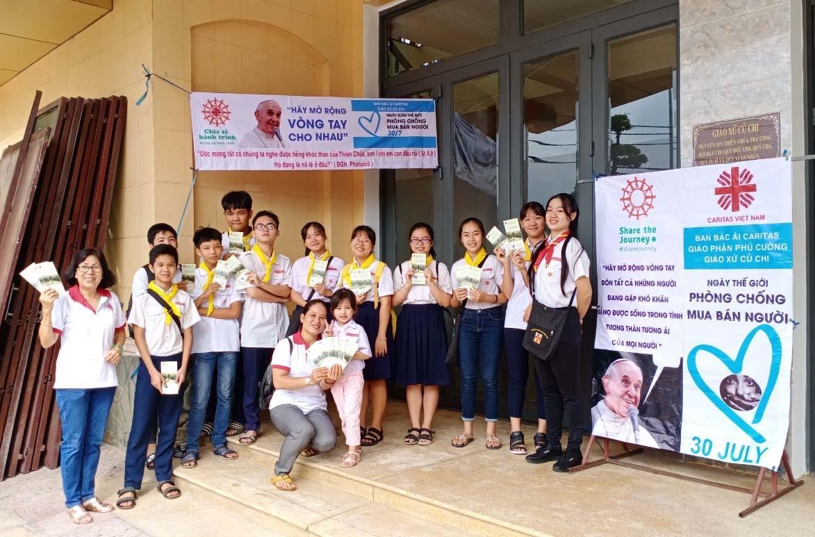 Caritas Phú Cường: Chiến Dịch Truyền Thông Ngày Quốc Tế Phòng Chống Buôn Người - 30/7